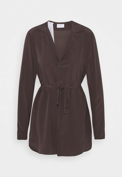 Marc O'Polo PURE - LONG BLOUSE BELT LONG SLEEVES LAPEL  - Bluse - mocca brown