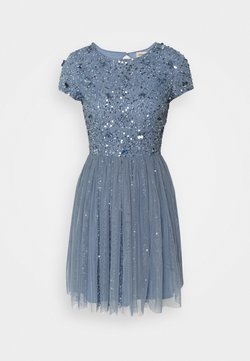 Lace & Beads Petite - NESSIA MIDI - Cocktailkleid/festliches Kleid - blue