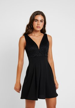 WAL G. - V NECK SKATER - Cocktail dress / Party dress - black