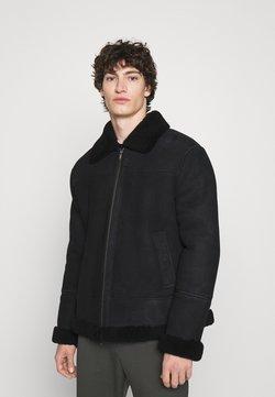 Dondup - MONTONE - Leren jas - black