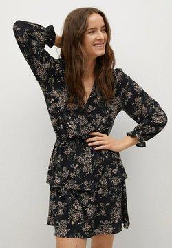 Mango - MOSS8 - Korte jurk - mottled black