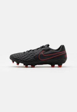 Nike Performance - TIEMPO LEGEND 8 PRO FG - Fußballschuh Nocken - black/dark smoke grey/chile red