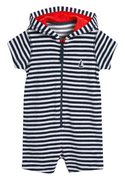 Next - NAVY STRIPE TOWELLING ALL-IN-ONE (3MTHS-7YRS) - Jumpsuit - blue