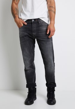 G-Star - SCUTAR 3D SLIM TAPERED - Jeans Tapered Fit - nero black stretch- antic charcoal