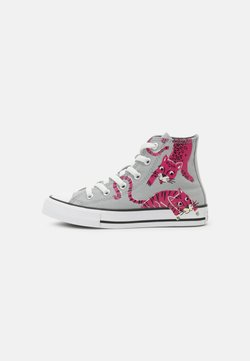 Converse - CHUCK TAYLOR ALL STAR JUNGLE CATS HI UNISEX - Zapatillas altas - ash stone/mason/prime pink