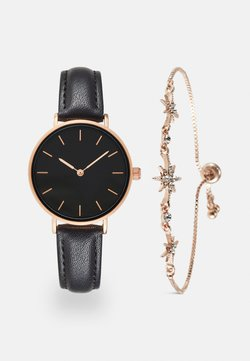 Even&Odd - SET - Uhr - black/rose gold-coloured