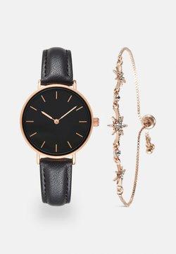 Even&Odd - SET - Montre - black/rose gold-coloured