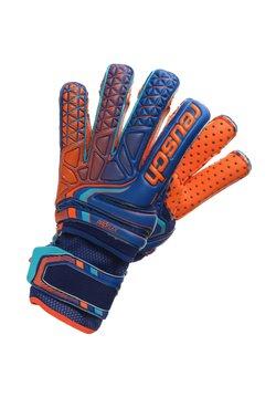 Reusch - ATTRAKT PRO G3 SPEEDBUMP EVOLUTION ORTHO-TEC  - Fingerhandschuh - deep blue / shocking orange