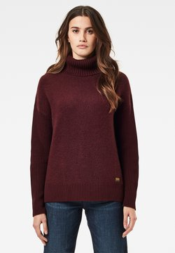 G-Star - ADDIR ROLL LOOSE LONG SLEEVE - Strickpullover - dk fig