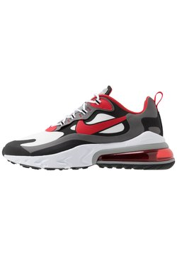 Nike Sportswear - AIR MAX  REACT - Sneakers laag - black/university red/white/iron grey/particle grey