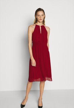 MICHAEL Michael Kors - CHAIN NECK MIDI DRESS - Cocktailkleid/festliches Kleid - maroon