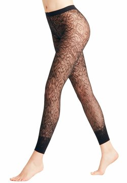 FALKE - FALKE ZEBRA 20 DENIER  LEGGINGS TRANSPARENT FEIN BRAUN - Leggings - Strümpfe - marine (6179)