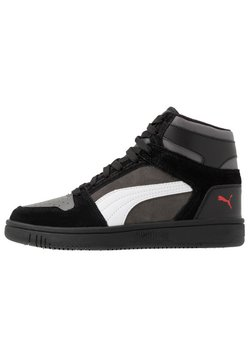 Puma - REBOUND LAYUP UNISEX - Sneakers hoog - black/castlerock/white/high risk red