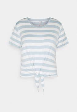ONLY Carmakoma - CARARLY KNOT  - T-Shirt print - cashmere blue/cloud