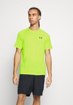 Under Armour - HEATGEAR TECH  - Camiseta estampada - green citrine