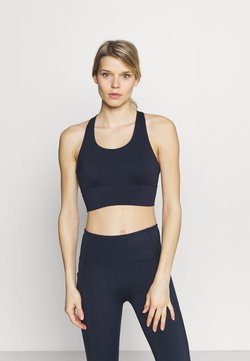Cotton On Body - ULTIMATE LONGLINE CROP - Sport-BH mit leichter Stützkraft - navy
