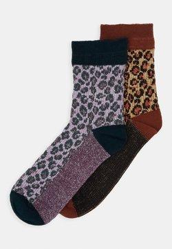 Becksöndergaard - LEO GLAMMY SOCK 2 PACK - Socken - brownish
