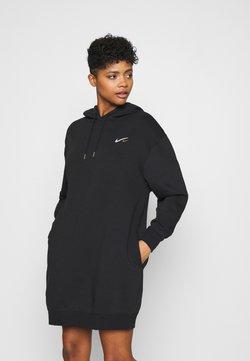 Nike Sportswear - HOODIE DRESS - Korte jurk - black