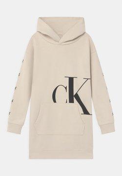 Calvin Klein Jeans - MONOGRAM HOODIE DRESS - Freizeitkleid - muslin