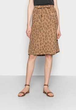 Cream - HANNELORE SKIRT - A-Linien-Rock - toasted leo