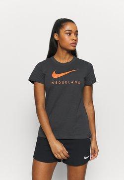 Nike Performance - NIEDERLANDE KNVB TEE GROUND - Pelipaita - anthracite