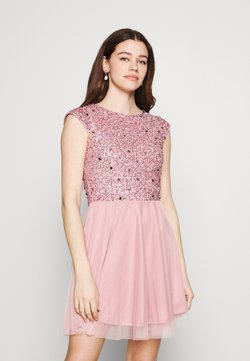 Lace & Beads - TESS SKATER - Cocktailkleid/festliches Kleid - pink