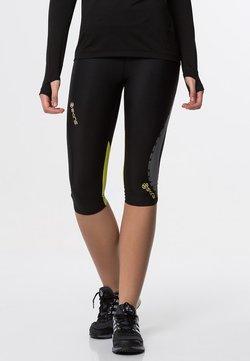 Skins - DNAMIC - 3/4 Sporthose - black/limoncello