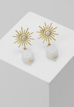 Leslii - Ohrringe - gold/white