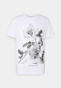 Jack & Jones - JORFASTER TEE CREW NECK - Print T-shirt - white