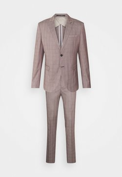 Selected Homme - SLHSLIM KNOXLOGAN CHECK SUIT SET - Anzug - red dahlia/white