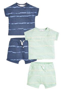 Next - 4 PACK - Shorts - blue light green
