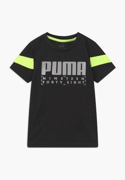Puma - ACTIVE SPORTS POLY TEE UNISEX - Printtipaita - black