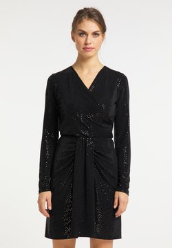 usha - Langarmshirt - schwarz silber