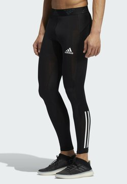 adidas Performance - TECHFIT 3-STRIPES LONG TIGHTS - Tights - black