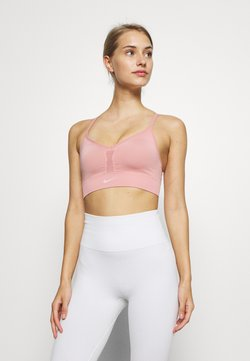 Nike Performance - INDY SEAMLESS BRA - Sport BH - rust pink/white