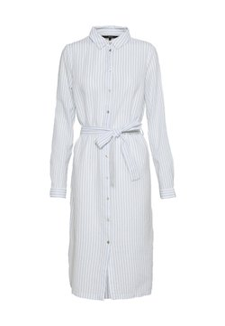 Vero Moda Tall - VMHELI SHIRT DRESS - Blusenkleid - snow white/placid blue