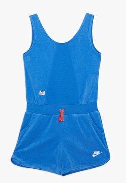 Nike Sportswear - HERITAGE ROMPER - Combinaison - pacific blue/track red/white
