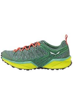 Salewa - DROPLINE - Zapatillas de senderismo - feld green/fluo coral