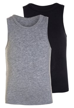 Name it - NMMTANK 2 PACK - Unterhemd/-shirt - grey melange
