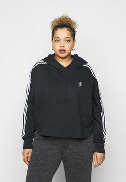 adidas Originals - CROPPED HOOD - Bluza z kapturem - black