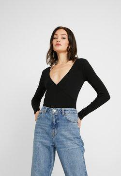 Even&Odd - BODYSUIT BASIC - Langarmshirt - black