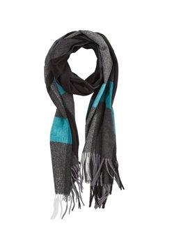 s.Oliver BLACK LABEL - KARO-MIT FRANSEN - Schal - dark grey stripes
