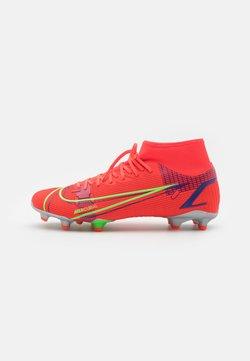Nike Performance - MERCURIAL 8 ACADEMY FG/MG - Voetbalschoenen met kunststof noppen - bright crimson/metallic silver