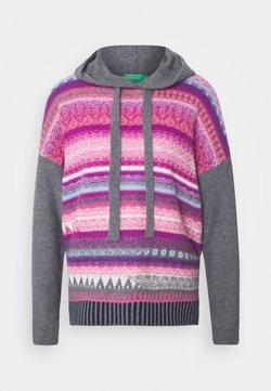 Benetton - HOOD - Bluza z kapturem - pink