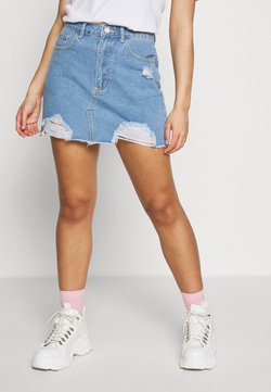 Missguided Petite - MINI SKIRT - Jeansrock - blue