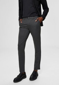 Selected Homme - FLEX FIT HOSE SLIM FIT - Chinot - dark grey