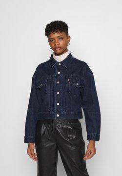 Levi's® - NEW HERITAGE TRUCKER - Veste en jean - dark blue denim