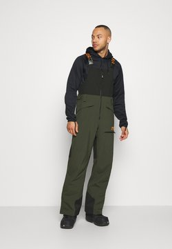 Oakley - SHELL BIB - Spodnie narciarskie - black/green