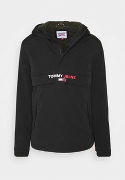 Tommy Jeans - SOLID POPOVER JACKET UNISEX - Windbreaker - black