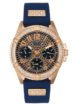Guess - LADIES SPORT - Rannekello - blue/rose gold-coloured